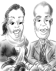 caricatures of couples