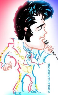 Elvis Presley ny caricature new york las vegas