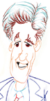 caricature of John Kerry, boston, MA