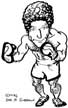 boxing caricature