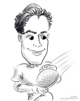 NFL caricatures great neck BY DALE GLADSTONE