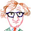 caricature of Woody Allen New York, NY