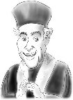 caricature of cantor in  in New York