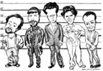 The Usual Suspects caricatures