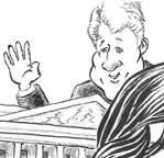Bill Clinton caricature