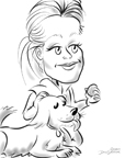 fetch pet caricatures BY DALE GLADSTONE
