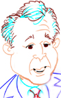 caricature of George W. Bush, Houston, TX