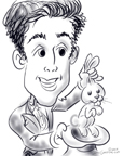 magician caricatures roslyn ny BY DALE GLADSTONE