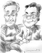 partners caricatures west village ny