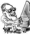 digital party caricatures of Ray Charles, New York