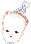 This caricature of a baby  was done entirely in Alias Sketchbook on a tablet PC from start to finish.