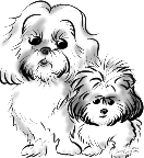 party caricatures ny of pets in black and white